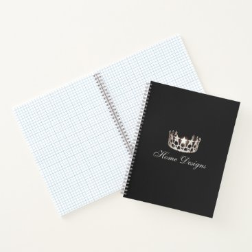 USA Themed Miss USA style Silver Crown Custom Graph Notebook