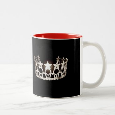 USA Themed Miss USA style Silver Crown Mug