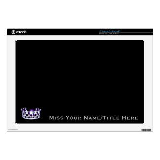 Miss USA style Silver Custom Name Laptop Skins