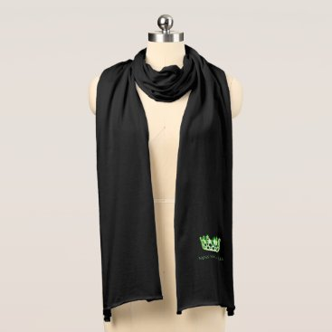 USA Themed Miss USA Unisex Apple Green Crown Knit Scarf