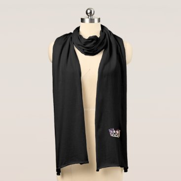 USA Themed Miss USA Unisex Silver Crown Knit Scarf