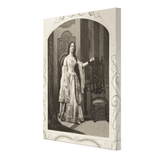 Miss Vandenhoff as Juliet, Act III Scene 1 of 'Rom Stretched Canvas Prints