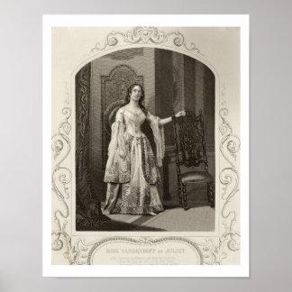 Miss Vandenhoff as Juliet, Act III Scene 1 of 'Rom Poster