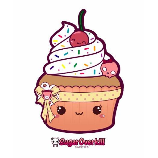 Miss Vanilla Kawaii Cupcake t-shirts