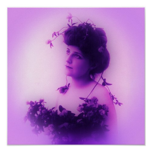 Miss Whitlock Lilac Poster print