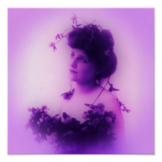 Miss Whitlock Lilac Poster