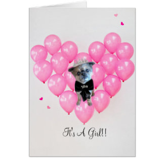 Miss Winkie, Diva, Congratulations Its A Girl Card