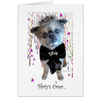 Miss Winkie, The Diva, Thank You Card