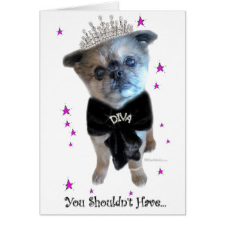 Miss Winkie, The Diva, Thank You Greeting Card