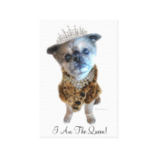 """Miss Winkie """"The Queen"""" Canvas Picture Canvas Print"""