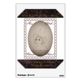 Miss Witch's Charm School Vintage Style Wall Decal