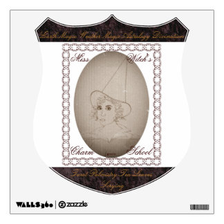 Miss Witch's Charm School Vintage Style Wall Graphics