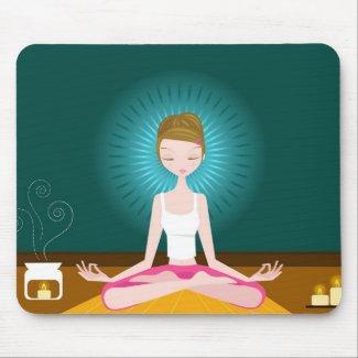 Miss Yoga Mousepad mousepad