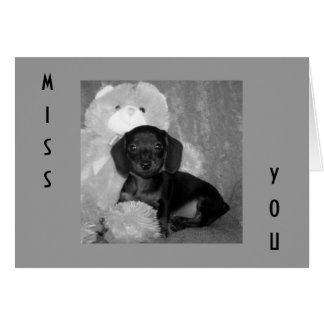MISS YOU A WHOLE BUNCH GREETING CARD