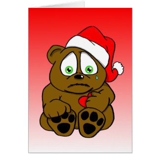 miss you beary much greeting card