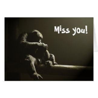 Miss you! blank inside stationery note card