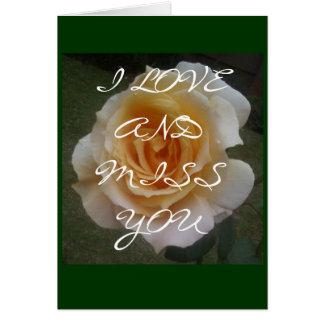 MISS YOU CARD BY RAINE CAROSIN