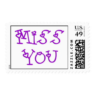 Miss You Greeting Postage