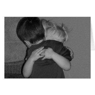 Miss you hugs card