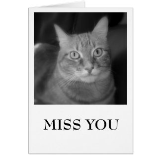 MISS YOU, LUCY WITH A TEARDROP CARD