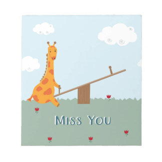 Miss You Notepad