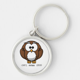 Miss you owl Keychain