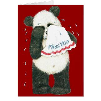 Miss You Panda Teddy Card (Blank)