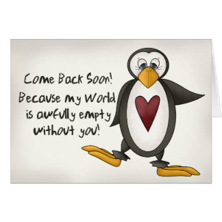 Miss You Penguin Card