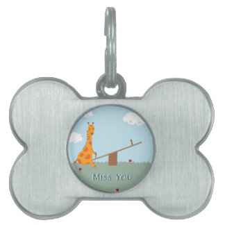 Miss You Pet Tag