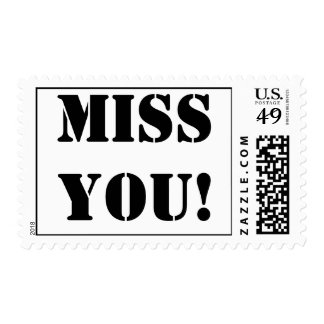 Miss You! Postage Stamp