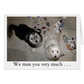 Miss You Puppies Stationery Note Card