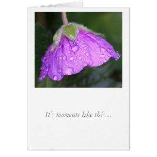 Miss You Purple Geranium Card