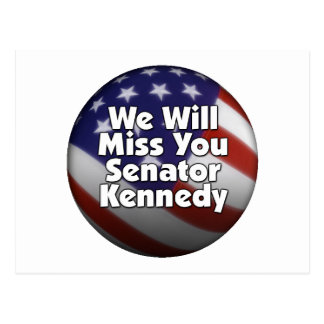 Miss You Ted Kennedy Postcard
