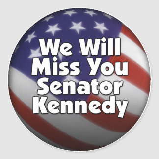 Miss You Ted Kennedy Stickers