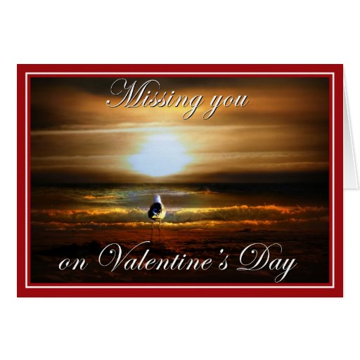 Miss You Valentine Greeting Cards