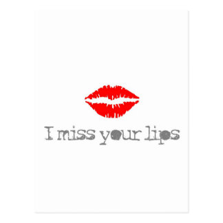 miss your lips postcard