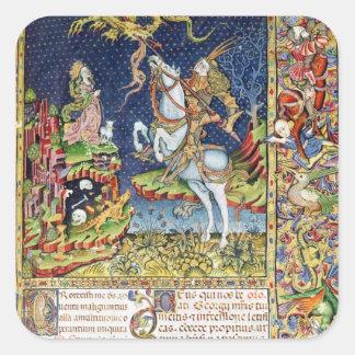 Missal de San Jorge de Topusko Pegatinas Cuadradases Personalizadas