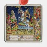 Missal of St. George of Topusko Square Metal Christmas Ornament