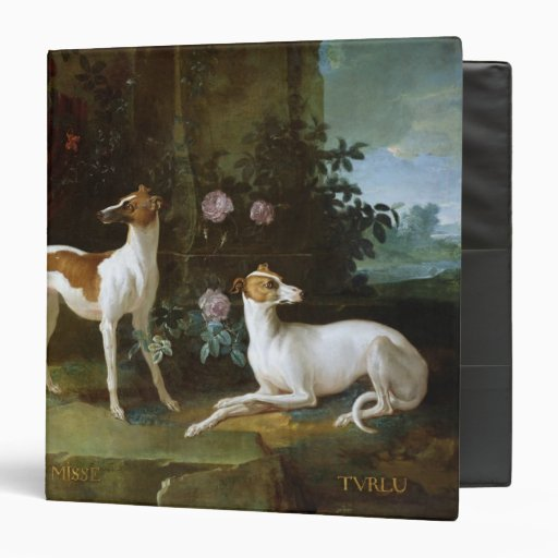 Misse and Turlu, two greyhounds of Louis XV 3 Ring Binder