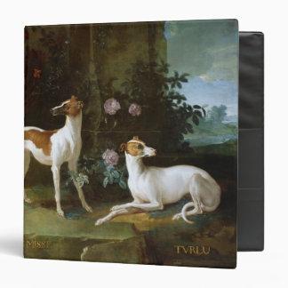 Misse and Turlu two greyhounds of Louis XV Vinyl Binder