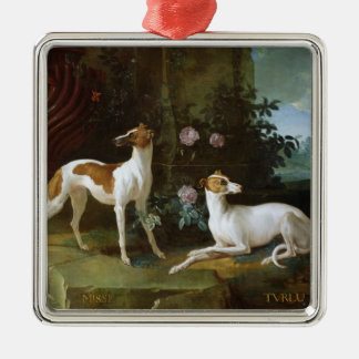 Misse and Turlu, two greyhounds of Louis XV Metal Ornament