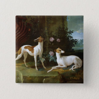 Misse and Turlu, two greyhounds of Louis XV Pinback Button