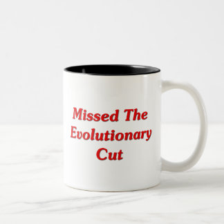 Missed The Evolutionary Cut Two-Tone Coffee Mug