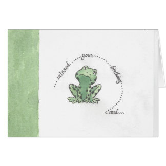 Missed Your Birthday notecard Greeting Card
