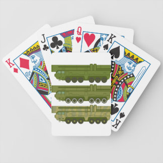 Missile carrier vector bicycle playing cards