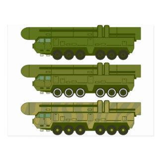 Missile carrier vector postcard