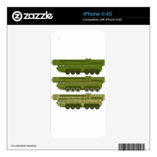 Missile carrier vector skin for iPhone 4