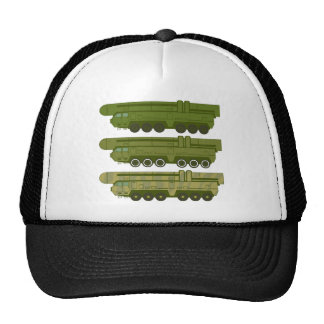 Missile carrier vector trucker hat