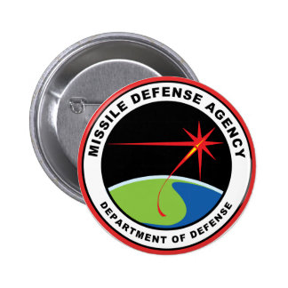 Missile Defense Agency Emblem 2 Inch Round Button
