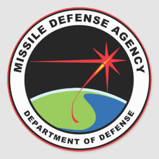 Missile Defense Agency Emblem (pack of 6/20) Classic Round Sticker